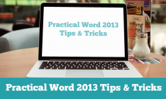 pracword  tips and tricks2013